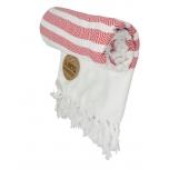 Triibuline Türgi rätik valge-punane