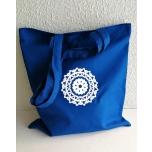 Sinine riidest kott mandalaga