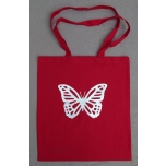 Punane riidest kott Liblikas