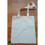 Väike valge orgaaniline tekstiilkott