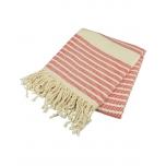 Triibuline rätik punane