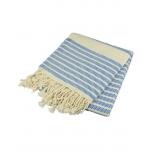 Triibuline rätik sinine