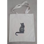 Naturaalvalge kott Mustriline kass