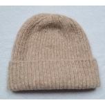 Beež kootud alpakavillane müts