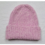Roosa kootud alpakavillane müts