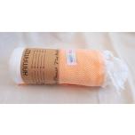 Triibuline rätik oranži rombimustriga