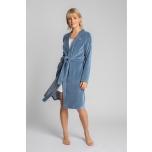 Sametist sinine hommikumantel