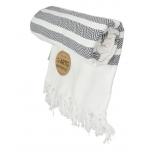 Triibuline rätik valge-hall