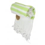 Triibuline rätik valge-laim