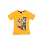 Lennukitega kollane t-särk