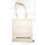"""Väike valge orgaaniline tekstiilkott """"Midaiganes"""""""