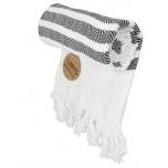 Triibuline rätik valge-must