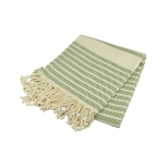 Triibuline rätik roheline