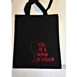 Väike must riidest kott Oh it's wine o'clock